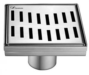 "Ganges River Series 5"" Square Drain LGS050504 (push-in)"